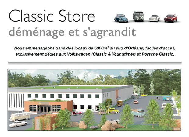 Classic Store : déménage