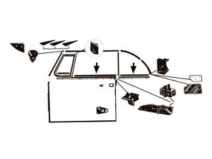 Lèches vitres cabriolet