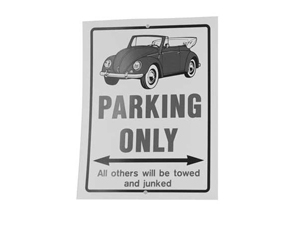 Plaques Parking only