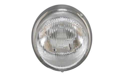 Headlight with ring - chrome