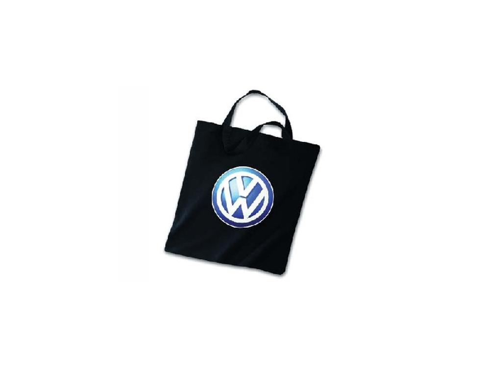 sac en coton noir logo vw bleu volkswagen classic pour cox combi karmann et d riv s. Black Bedroom Furniture Sets. Home Design Ideas