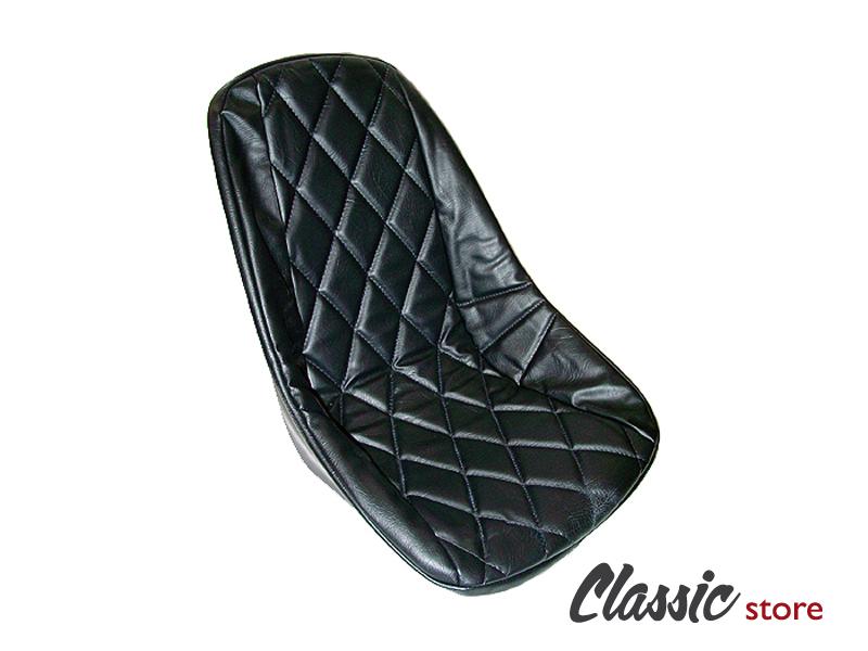 Housse vinyle losange noire pour baquet sans appui t te for Housse de siege baquet
