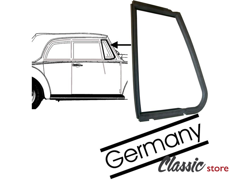 rubber seal - vent window - convertible 1965-1972 - r