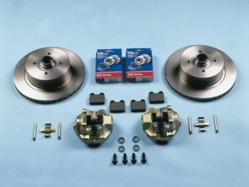 Front disc brake kit vented - 4x100 1968-1979 - KERSCHER : VW Aircooled, Beetle, VW Bus, Buggy ...