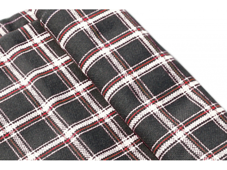 Seat cloth - code EY/18 - black/grey - per meter