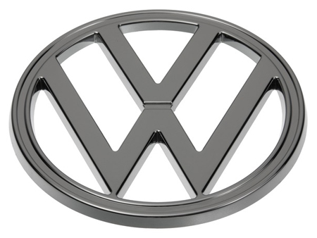badge vw  front face   chrome volkswagen classic vw aircooled beetle vw bus