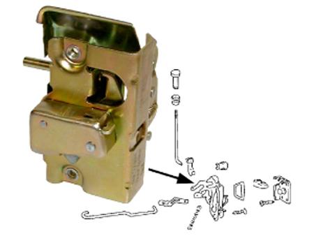 Door Lock Mechanism 1947 1965 L Vw Aircooled Beetle Bus Buggy Clic