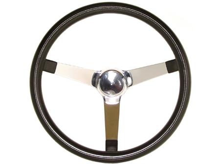 Volant Grant Classic Series - lisse - noir et chrome - 381 mm