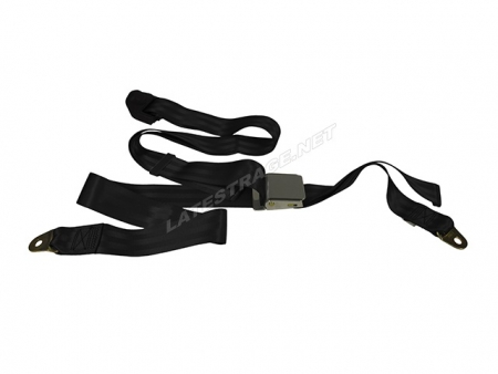 Seat belt 3 points style WOB - Black