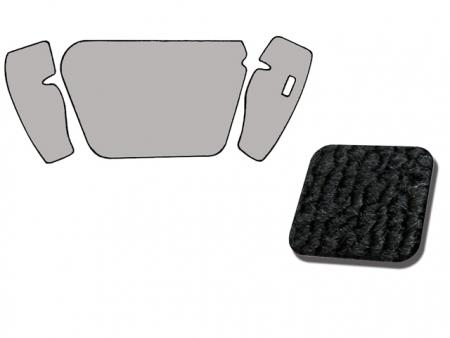 Kit moquette TMI de coffre avant 1960-1967 - noir