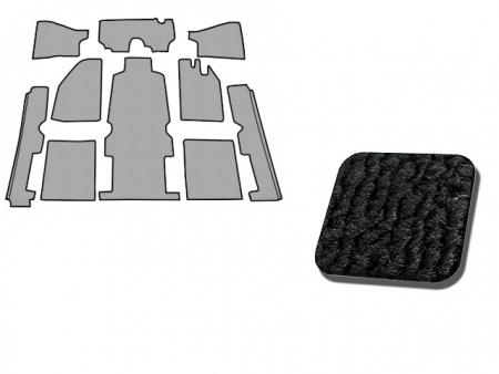 Carpet kit - inside - 1971-1973 - black (1302/03)