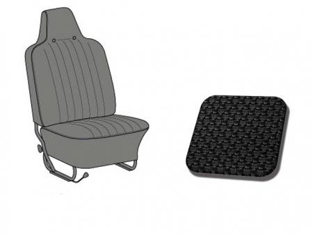 Housses de siège TMI 1970-1972 - noir (appuis tête incoporé)