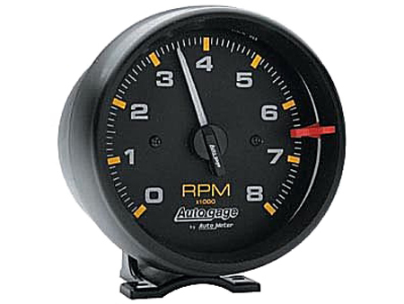Tachometer Autogage 95 mm - 8000 RPM - Black