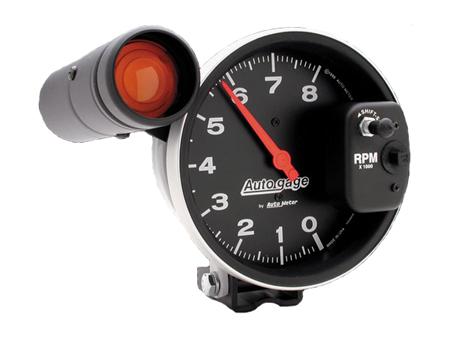 Compte-tours Autogage 125 mm - 8000 trs - shift light extérieur