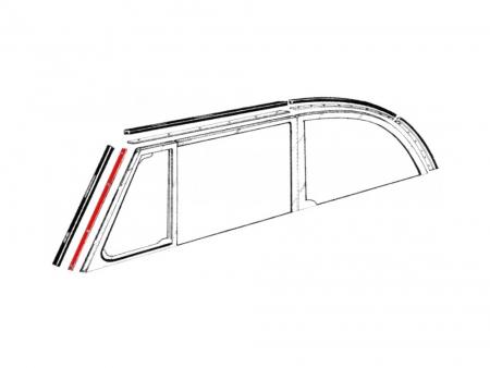 Inserts aluminium pour joints vertical de baie de pare brise 1952-1964