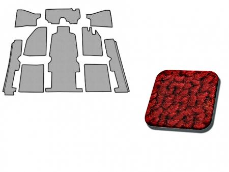 Carpet kit - inside - 1958-1968 - red