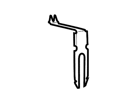 Patte de barre de séparation des vitres coulissantes 1950-1967