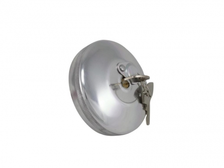 Fuel Tank cap - 1968-1971 - with keys - polished Stainless Steel