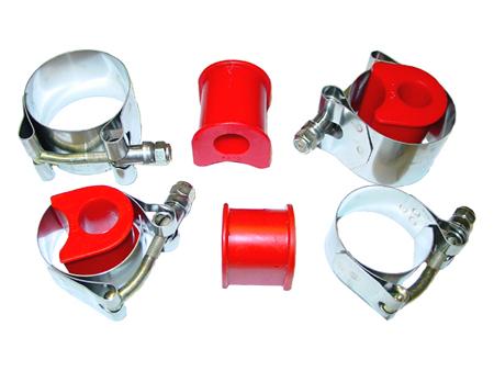 Kit colliers Inox + silentblocs uréthane (barre gros diamètre)