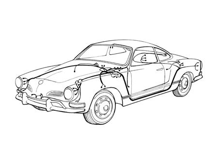 electric circuit complete 1961 1965 vw aircooled beetle vw bus rh classic store com vw karmann ghia wiring harness karmann ghia wiring loom