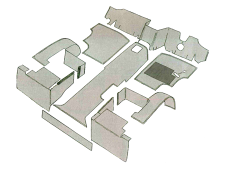 Kit moquette intérieur complet - Gris