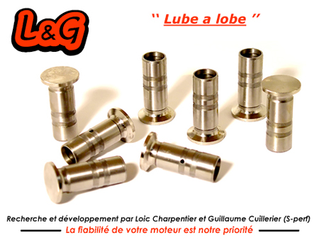 Poussoirs renforcés pércés - 30 mm - lube a lobe - L&G