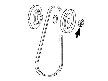 Ecrou de poulie (dyn/alt) - origine