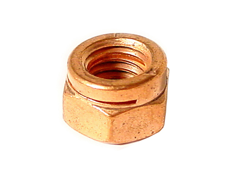 Copper nut for exhaust - 8 mm