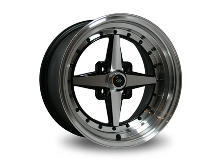 Wheel - ROTA Zéro Plus - 4x100 - 8x15 - ET10 - black/polished