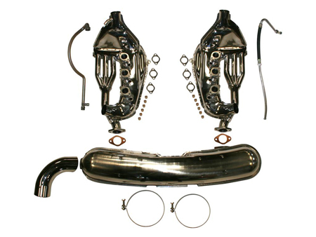 Kit - complete exhaust conversion - simple outer 84 mm