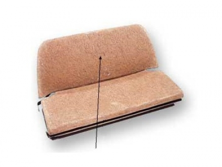Paille de réparation de dossier de banquette arrière 1956-1964 - Cabriolet