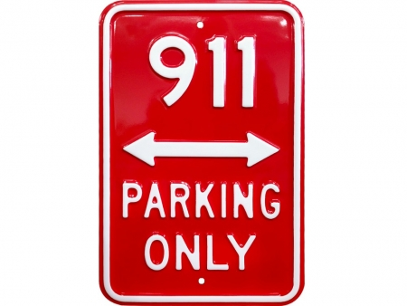 Placa 911 PARKING ONLY