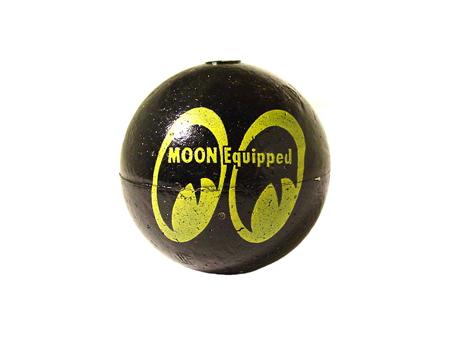 Antenna Ball - Moon logo - Black