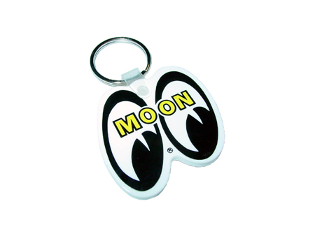 Key ring - MOON - plastic - White