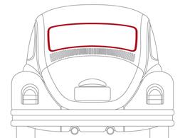 Joint de lunette arrière pour moulure 1972-1979 - WCM