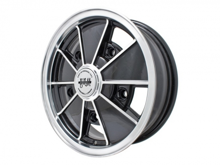 Wheel - BRM - 5x205 - 5x15 - Black & polished - ET14 - Empi