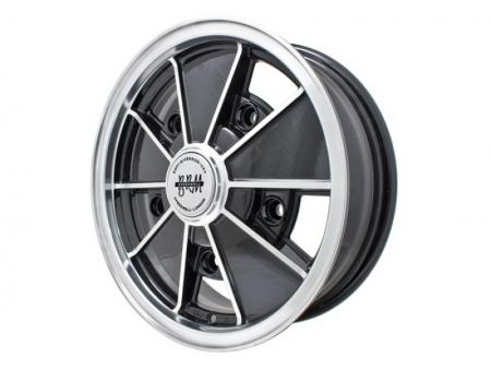Wheel - BRM - 5x205 - 6.5x15 - Black & polished - ET12 - Empi