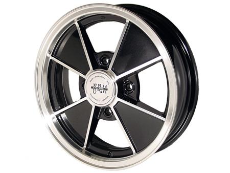 Wheel - BRM - 4x130 - 5.5x15 - Black & polished - ET15 - Empi