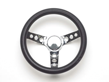 Steering wheel - Grant Classic Series - Pierced -Black and Chrome - 290 mm