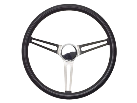 Steering wheel - Grant Classic Nostalgia - Open Slot Style - Black and Stainless steel - 381 mm