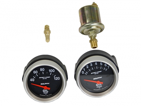 Oil temperature gauge - AUTOMETER Sport Comp - 60-150° - dia 52 mm