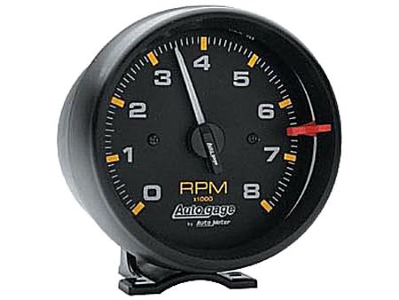 Tachometer Autogage 95 mm - 8000 RPM - Black