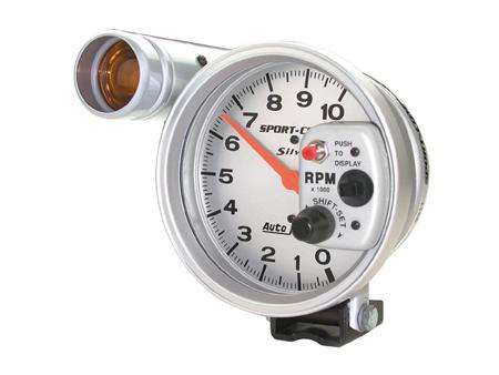 Tachometer Autometer Silver Tachs 125 mm - 10000 RPM