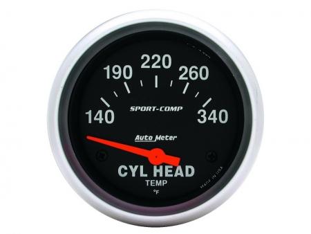 Cylinder head temperature gauge - AUTOMETER Sport Comp 140-340°F - dia 67 mm
