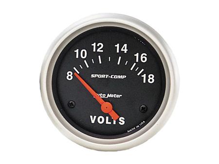 Voltmeter gauge 8-18 volts Sport comp - AUTOMETER