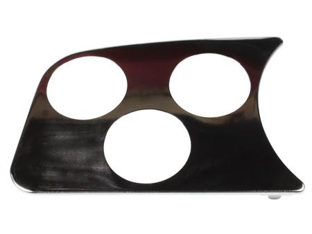 Gauge mount speaker panel - chrome - L - 3 holes