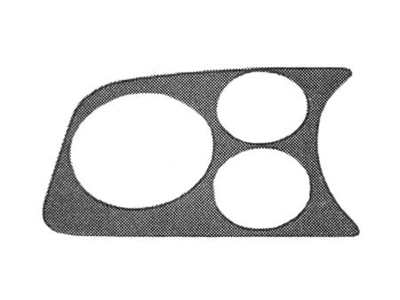 Gauge mount speaker panel - chrome - L - 2 holes + 1 for tachometer