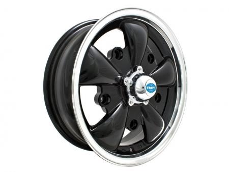 Wheel - EMPI GT5 - 5x205 - 5.5x15 - black & polished - ET20 - Empi