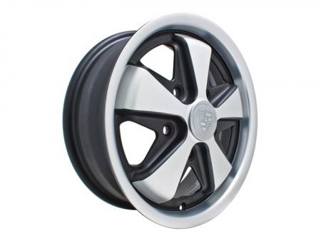 Wheel - FUSCH - 5x130 - 4.5x15 - Black mat & satin - ET45 - Empi