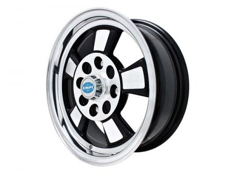 Wheel - RIVIERA - 4x130 - 5.5x15 - Black & Polished - ET17 - Empi